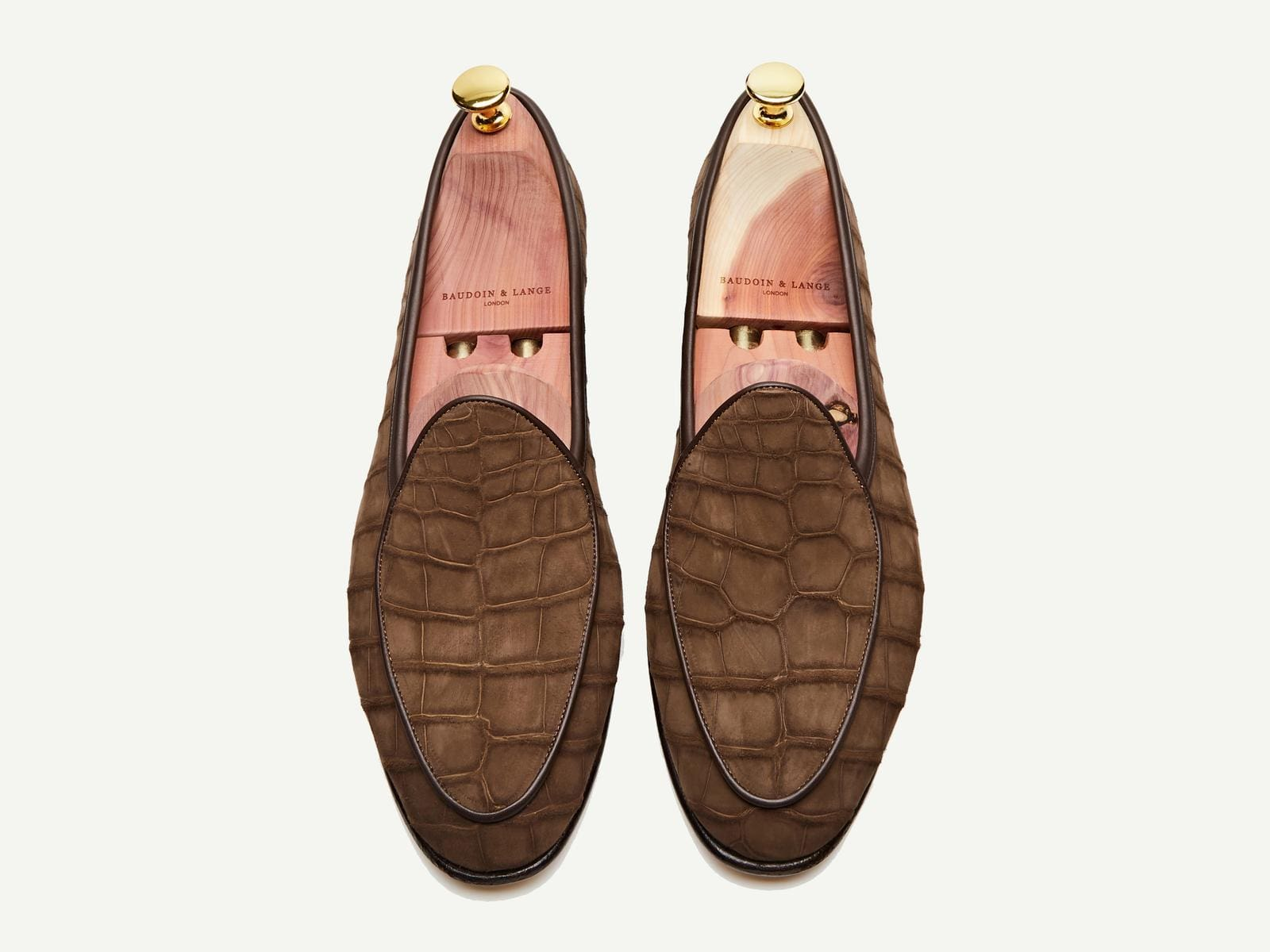 Sagan Classic Precious Leathers in Tan Nubuck Alligator