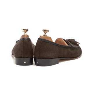 Sagan Classic Tassel in Lusitanias Dark Brown Suede