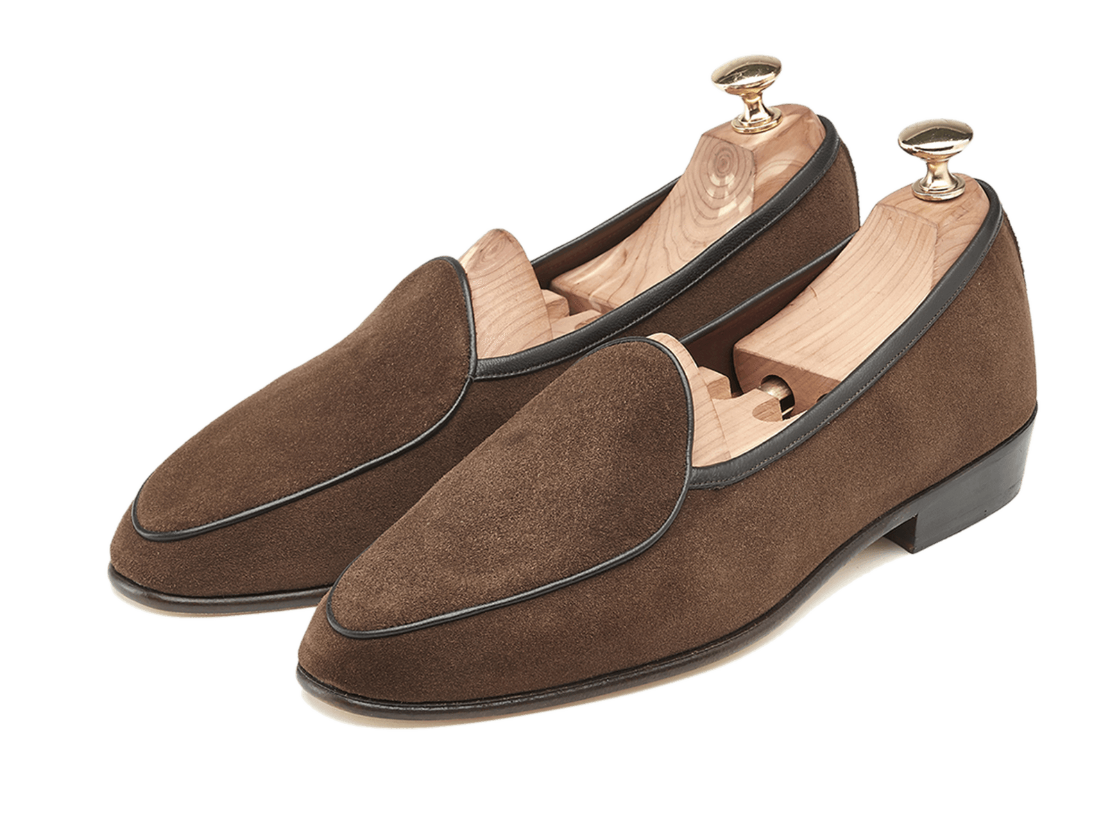 Sagan Classic Plain in Oak Brown Suede