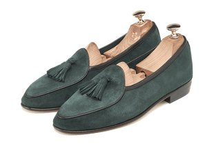 Sagan Classic Tassel in Dartmouth Green Suede