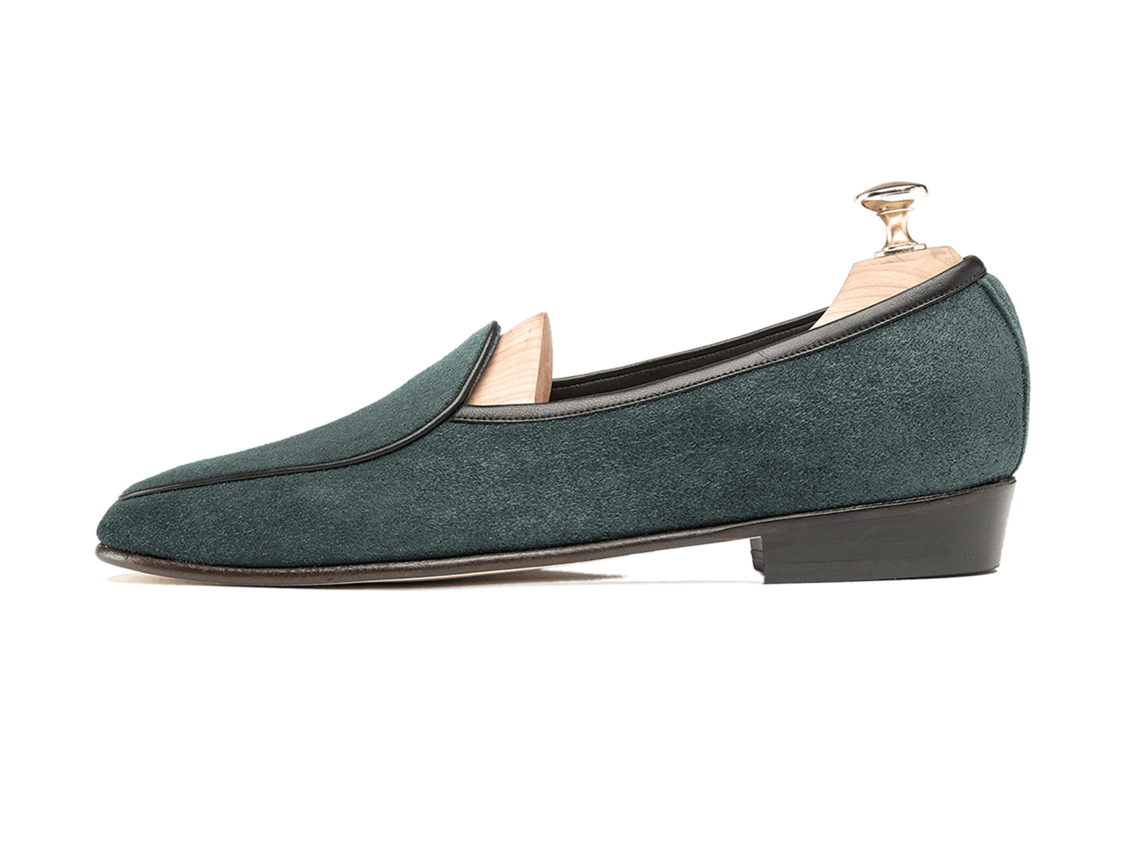 Sagan Classic Plain in Dartmouth Green Suede