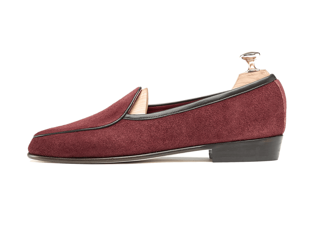 Sagan Classic Plain in Vougeot Burgundy Suede (3603714146381)