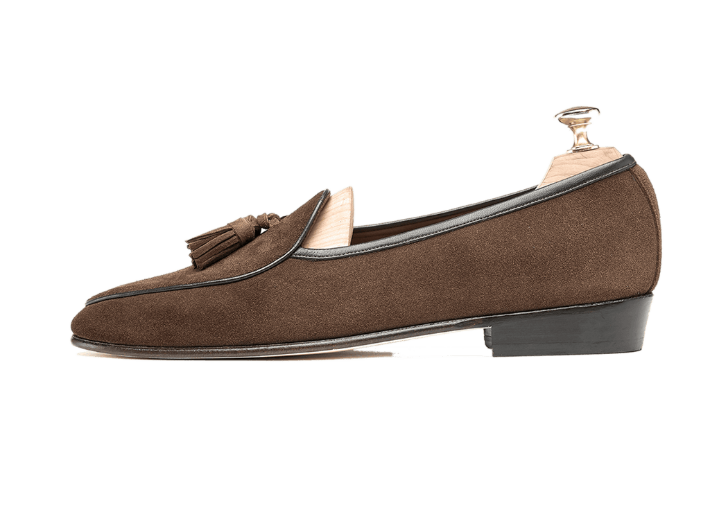 Sagan Classic Tassels in Oak Brown Suede (3603717881933)