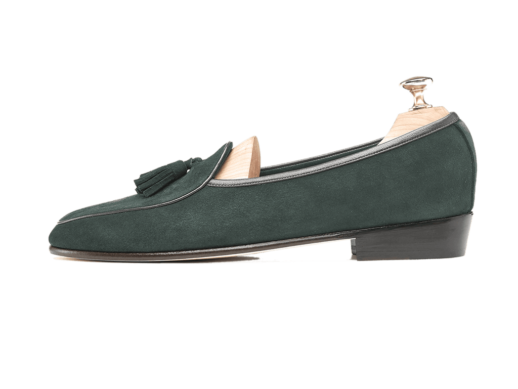 Sagan Classic Tassels in Dartmouth Green Suede (3603716145229)