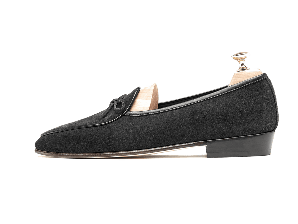 Sagan Classic String in Obsidian Black Suede (3603723026509)