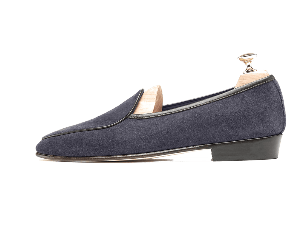 Sagan Classic Plain in Navy Grey Suede (3603711295565)