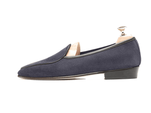 Sagan Classic Plain in Navy Grey Suede