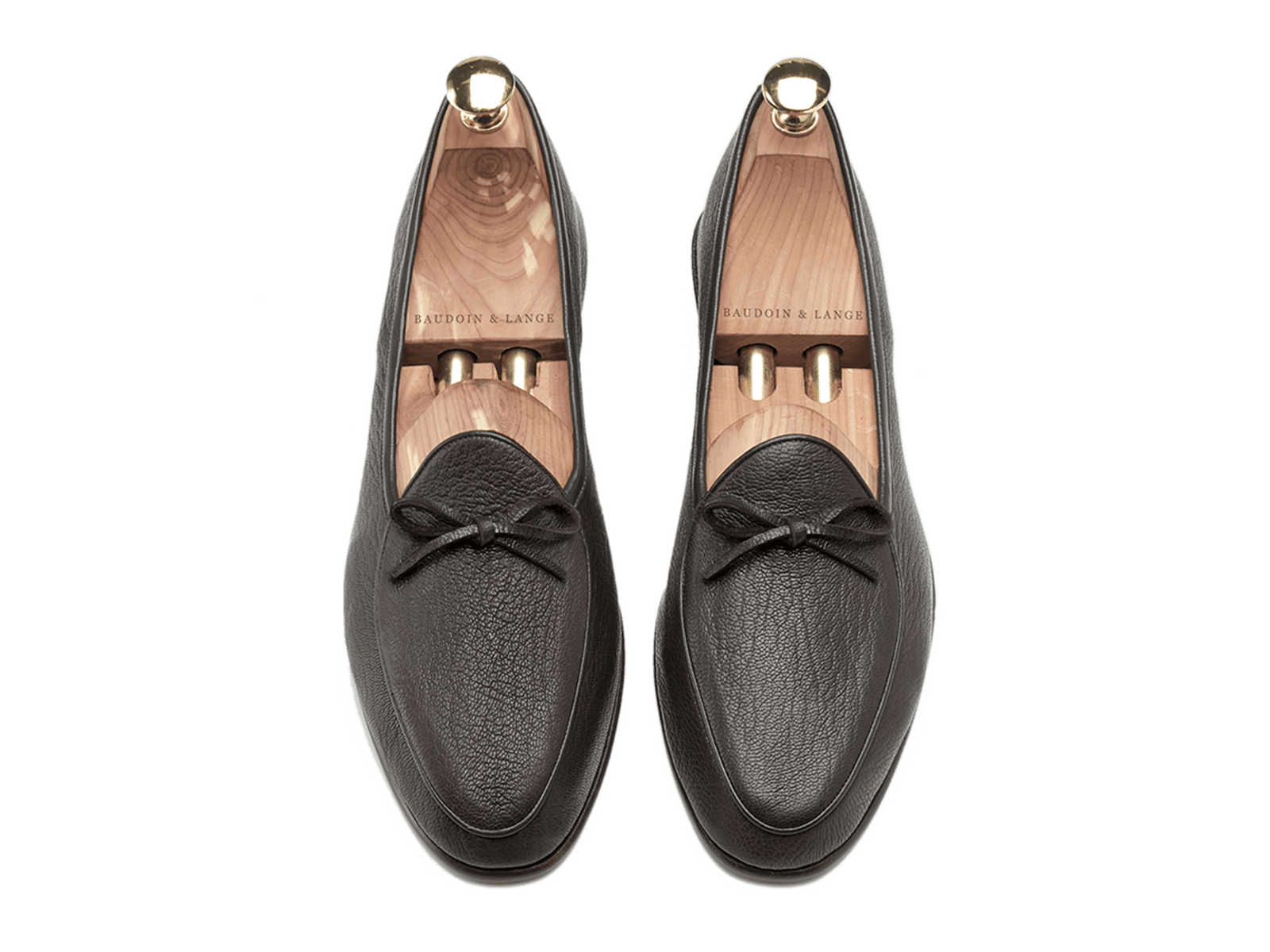Sagan Classic String in Dark Brown Deerskin