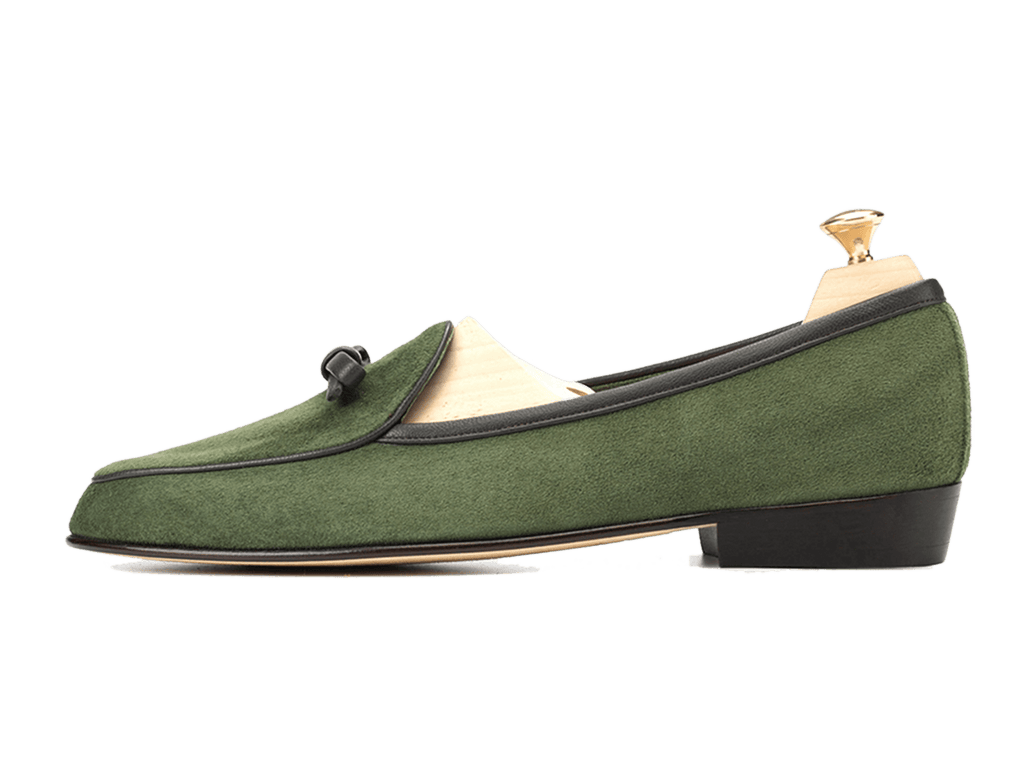 Sagan Classic Bow in Grenouille Green Asteria Suede (3603743506509)