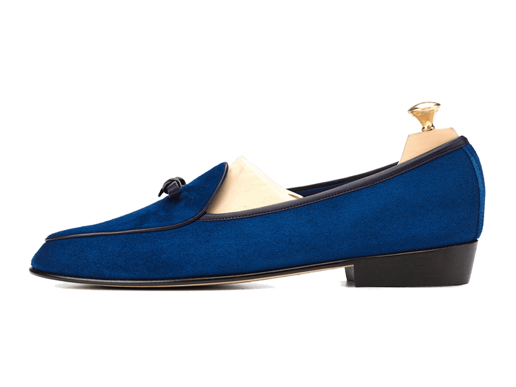 Sagan Classic Bow in Admiral Blue Asteria Suede (3603742785613)
