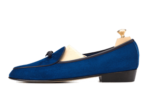 Sagan Classic Bow in Admiral Blue Asteria Suede
