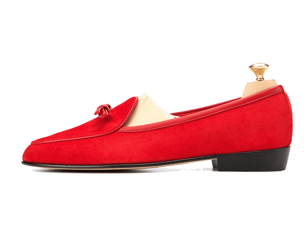 Sagan Classic Bow in Scarlet Red Asteria Suede (3603744358477)