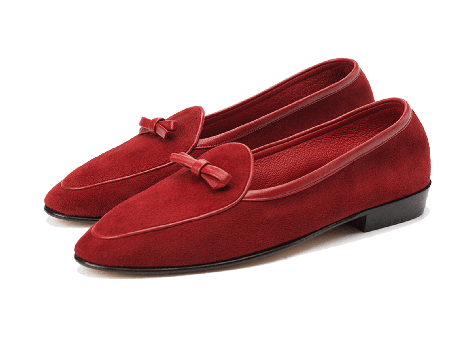 Sagan Classic Bow in Chaperon Red Asteria Suede
