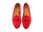 Sagan Classic Bow in Scarlet Red Asteria Suede