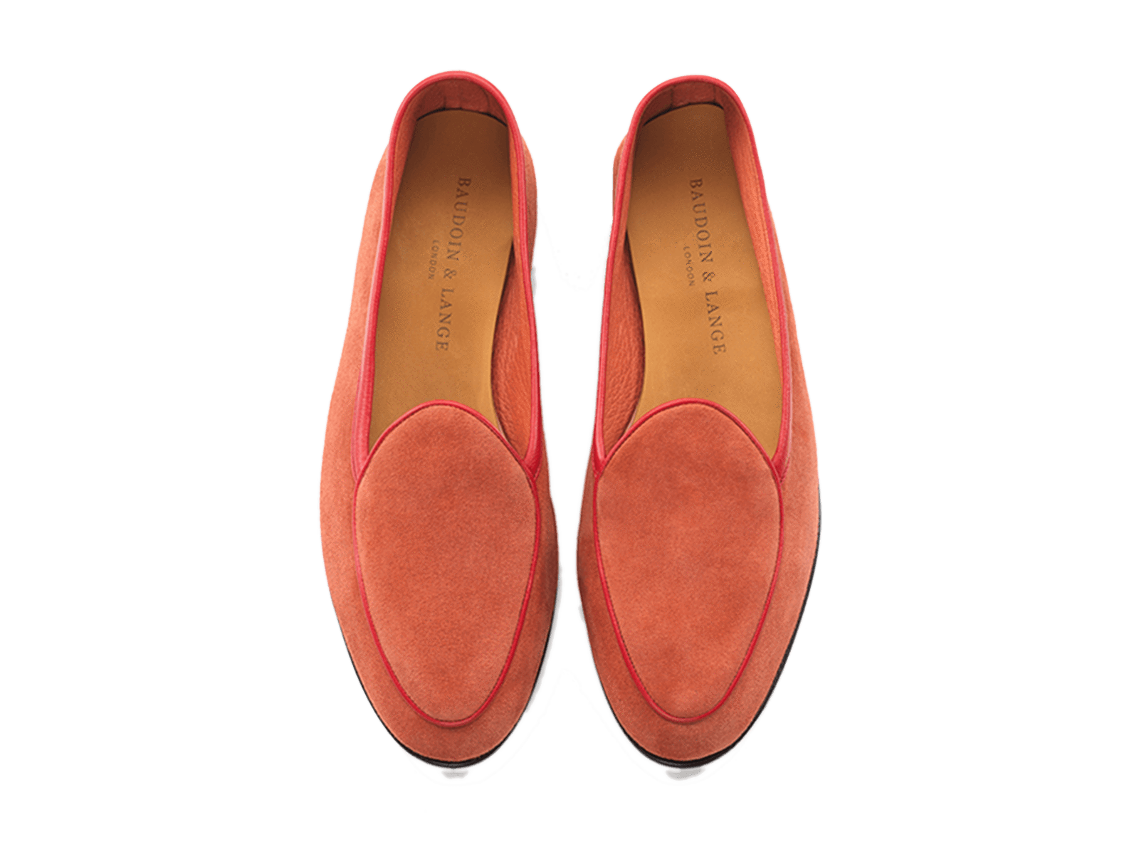 Sagan Classic Plain in Coral Red Asteria Suede