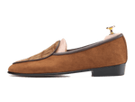 Sagan Classic Precious Leathers in Tobacco Suede and Tan Nubuck Alligator