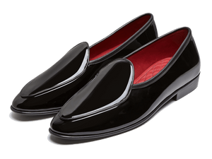 Sagan Classic Plain in Black Patent Calf