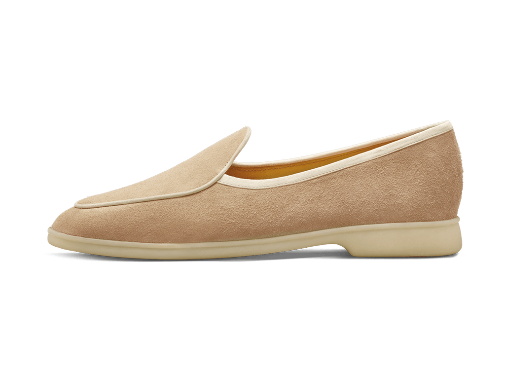 Sagan Stride in Oatmeal Suede Natural Sole