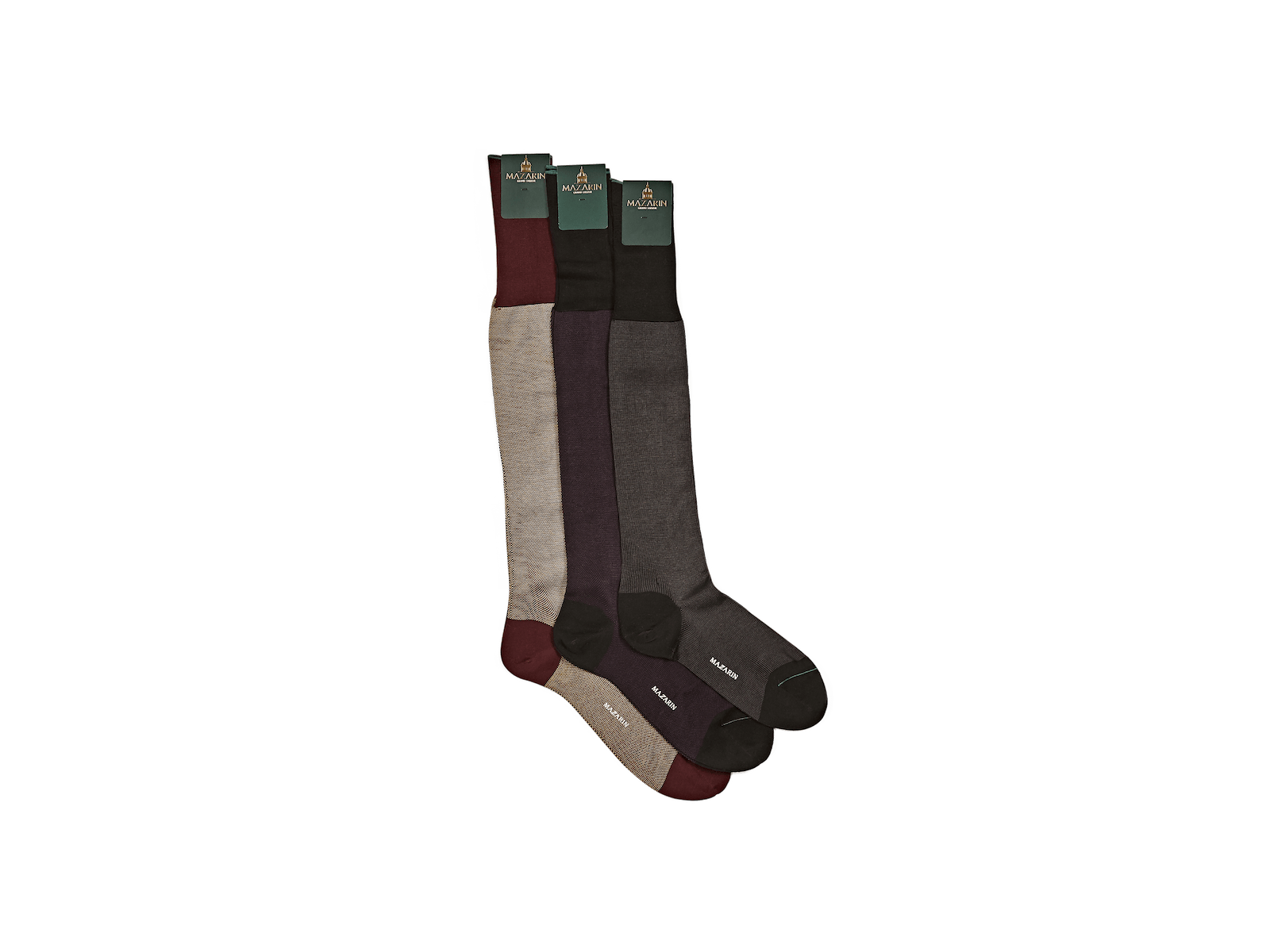 Luxe Socks in Grey and Black Cotton
