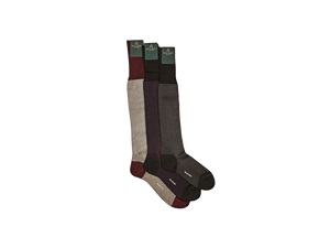 Luxe Socks in Burgundy and Beige Cotton