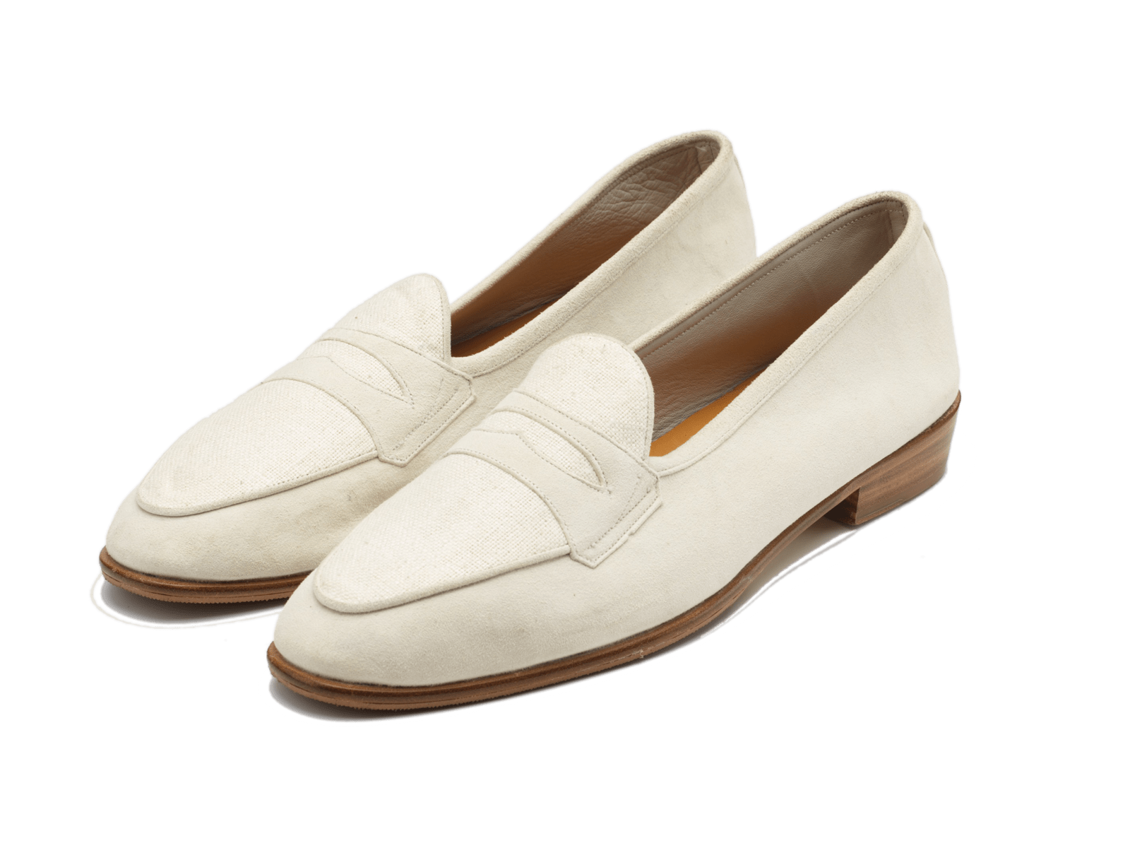 Sagan Classic Riviera in Off White Suede and Silk Matka