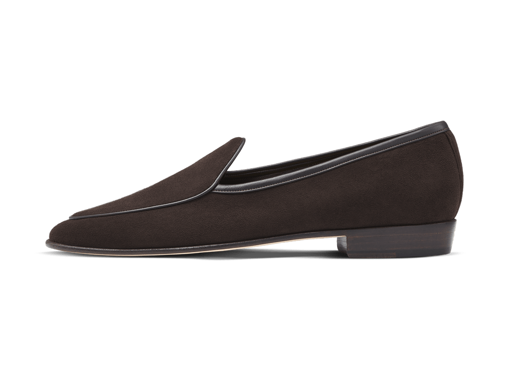 Sagan Classic Plain in Lusitanias Dark Brown Suede (3603709591629)