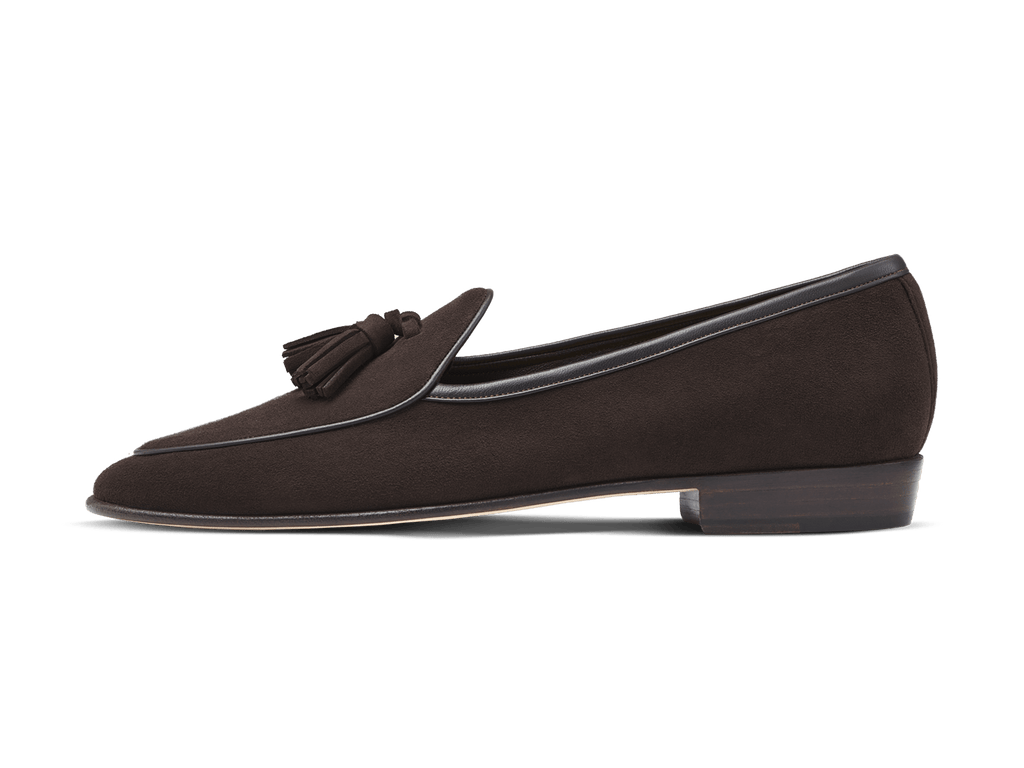 Sagan Classic Tassels in Lusitanias Dark Brown Suede (3603716702285)