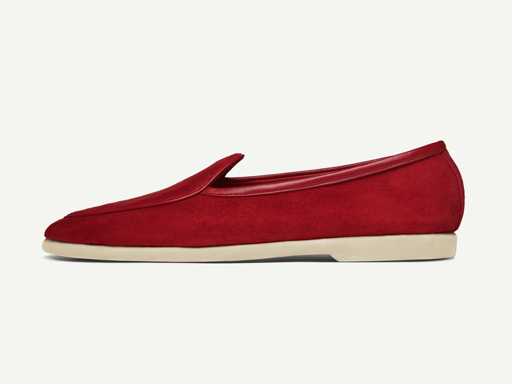 Sagan Edition Lune in Chaperon Red Suede (4693507342413)