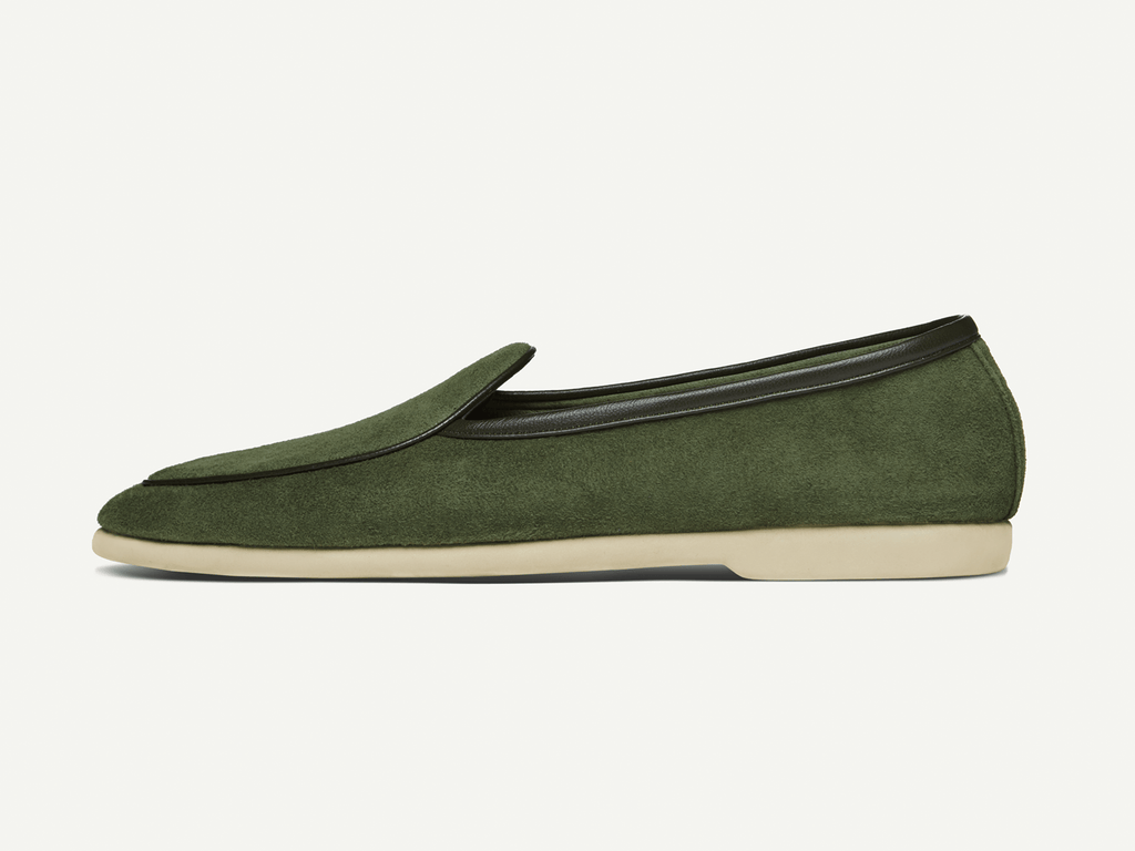 Sagan Edition Lune in Grenouille Green Suede (4757101903949)