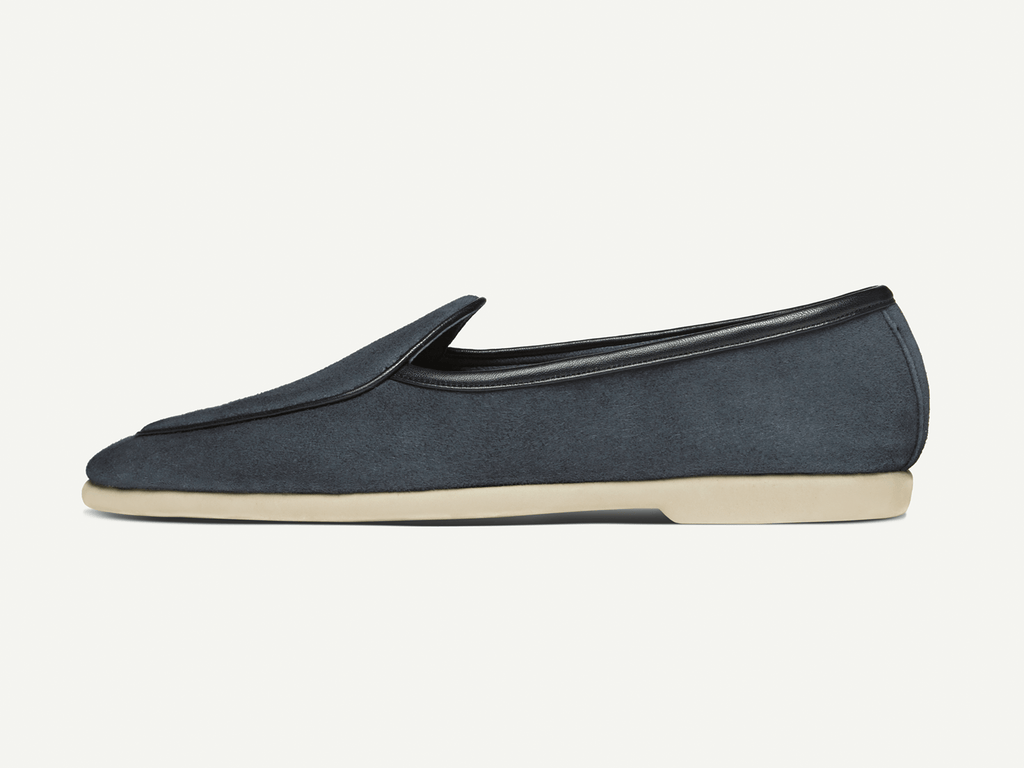 Sagan Edition Lune in Navy Grey Suede (4687452864589)
