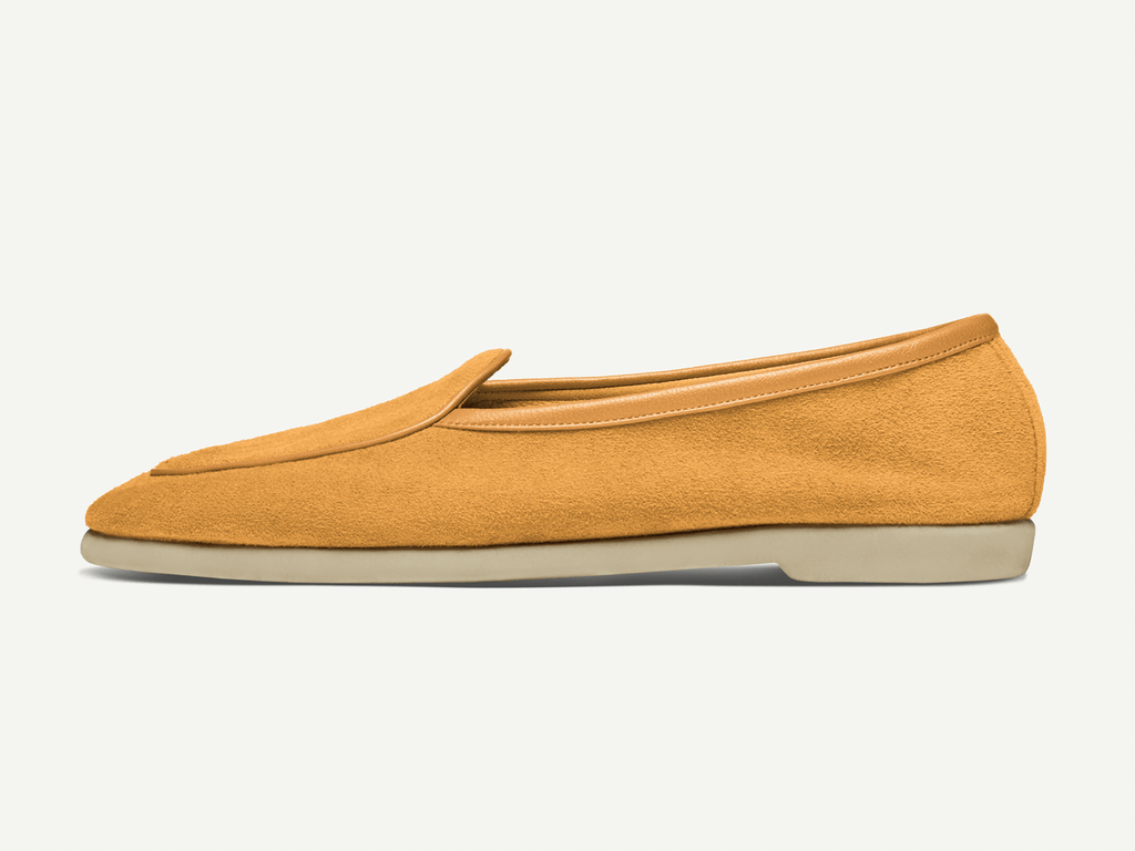 Sagan Edition Lune in Camel Yellow Asteria Suede (4693502165069)