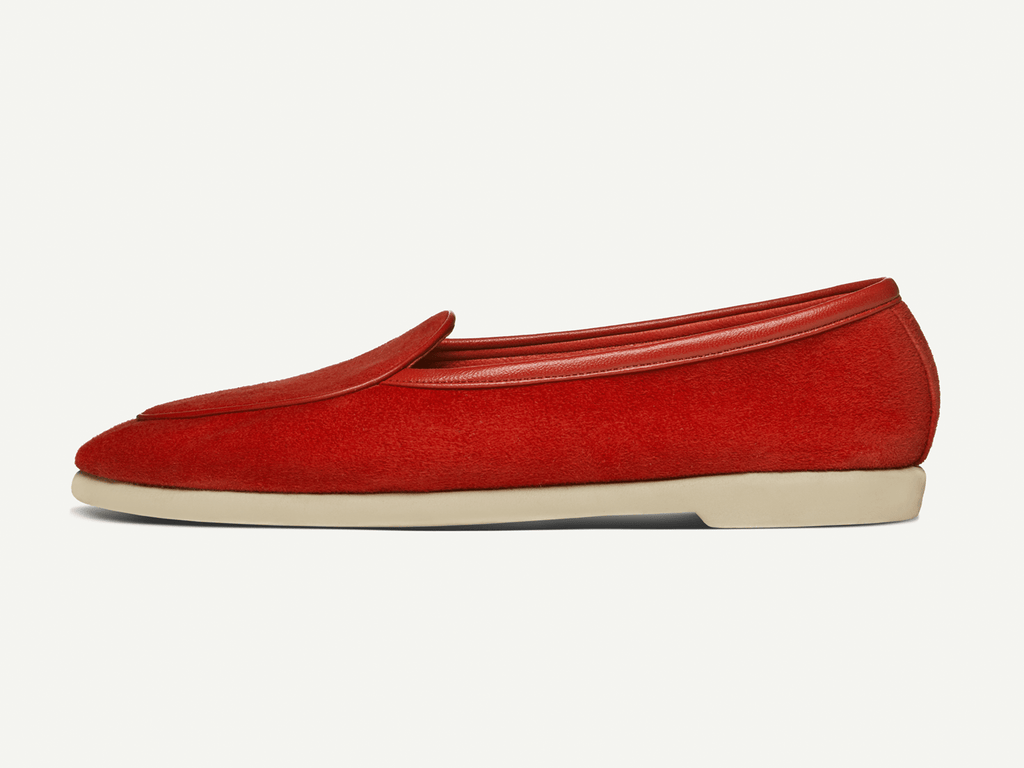 Sagan Edition Lune in Scarlet Red Asteria Suede (4693509636173)