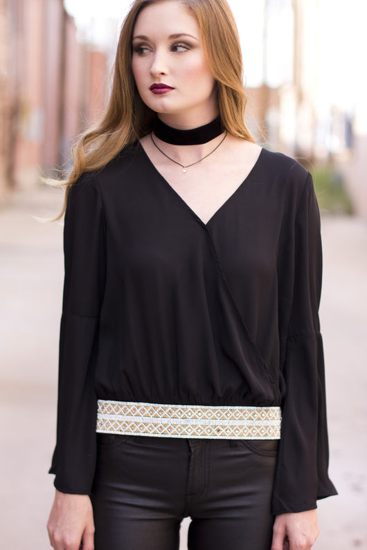 BELINDA BLING WAIST TOP