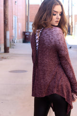 CALISTA LACE UP CARDIGAN