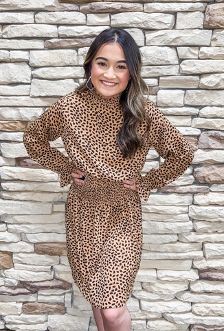 In a Cinch Cheetah Dress