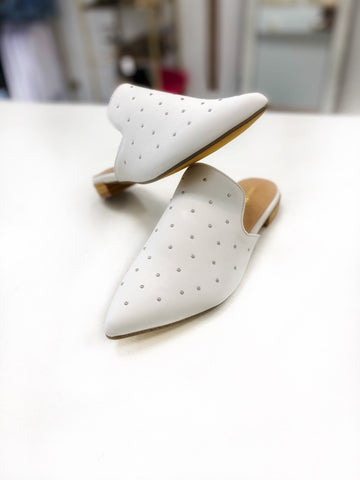 White Grace Mules