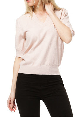 Short Sleeved V-Neck Top