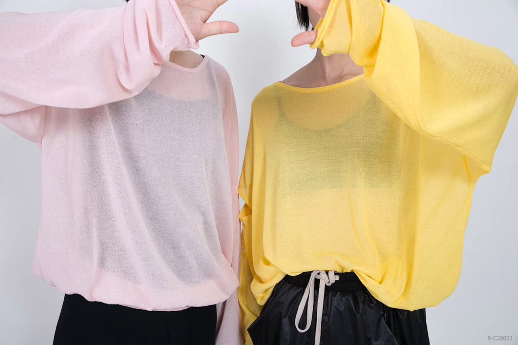 Pink & Yellow Long Sleeved Blouse