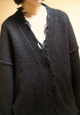 Ripped cardigan Black