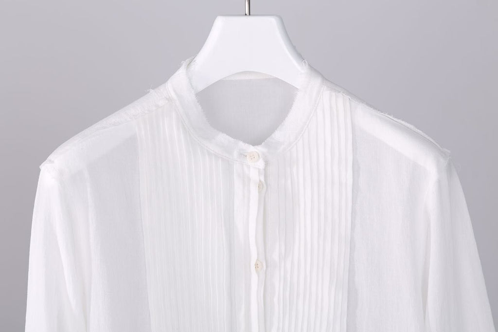 White cotton shirt blouse