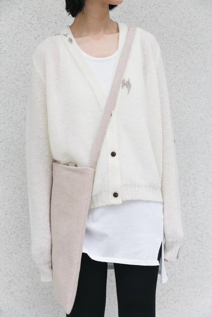Long sleeve cardigan with embroidery