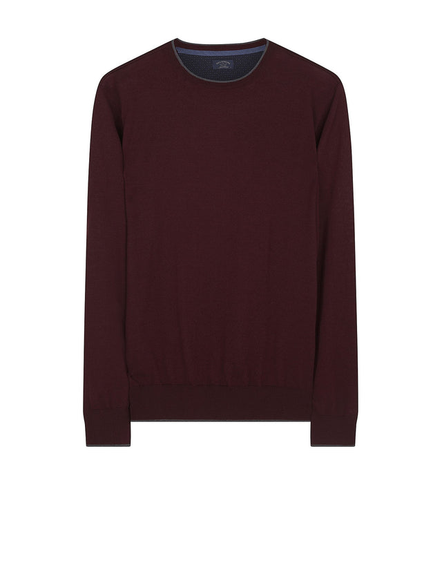 Cashmere Blend Crewneck Jumper in Red