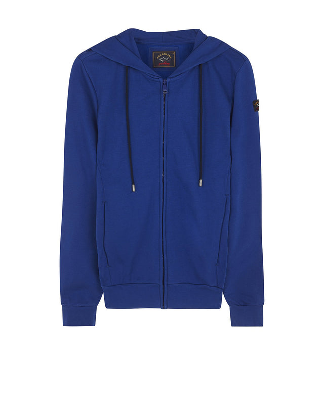 Shark Fit Hooded Jumper in Blue