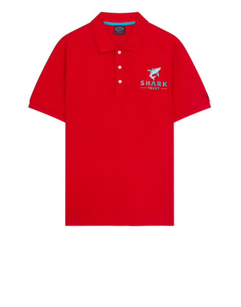 Shark Trust Polo Shirt in Red