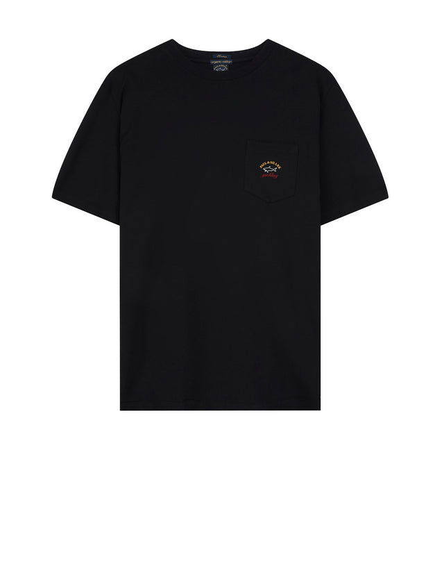 Short Sleeve Heritage Pocket T-Shirt in Black
