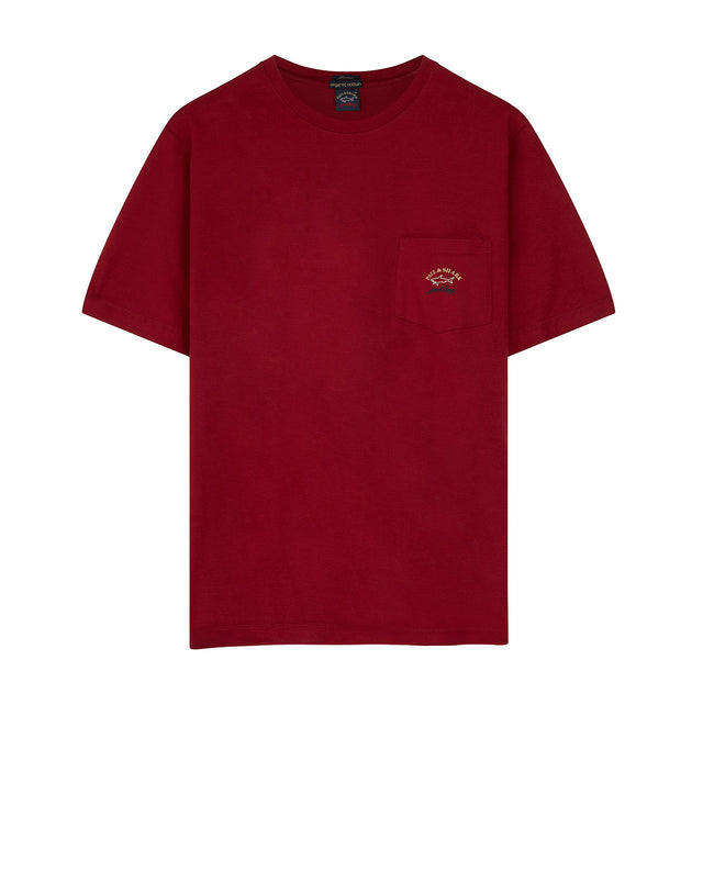 Short Sleeve Pocket T-Shirt in Dark Wine