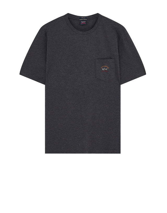 Short Sleeve Heritage Pocket T-Shirt in Charcoal
