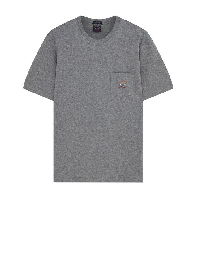 Short Sleeve Heritage Pocket T-Shirt in Grey