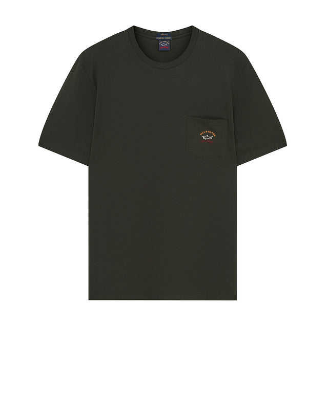 Short Sleeve Heritage Pocket T-Shirt in Dark Green