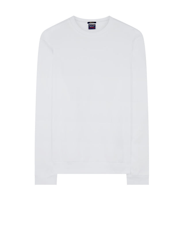 Heritage Knitted Crewneck Sweatshirt in White